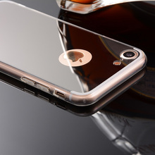 For iPhone 7 Case 4.7 inch Cheap Soft Luxury Plating TPU Silicone Mirror Case for iPhone 7 Case Cover Fundas Coque Capa Kilifi