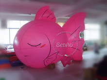 AO028 4.5m PVC inflatable balloon sky  helium balloon/fish for advertising events/giant flying advertising balloon with you logo