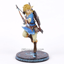 "The Legend of Zelda Breath of the Wild Link 10"" PVC Painted Statue Figure Collectible Model Toy"