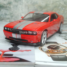 3pcs/pack Wholesale 1/24 Scale USA Dodge Challenger SRT Diecast Metal Car Model Toy New In Box