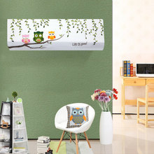 Embroidery Cartoon Animal Flower Gilr Air Conditioner Dust Cover Hanging Air Conditioning Cleaning Cloth Case Dust Proof 1PC(China)