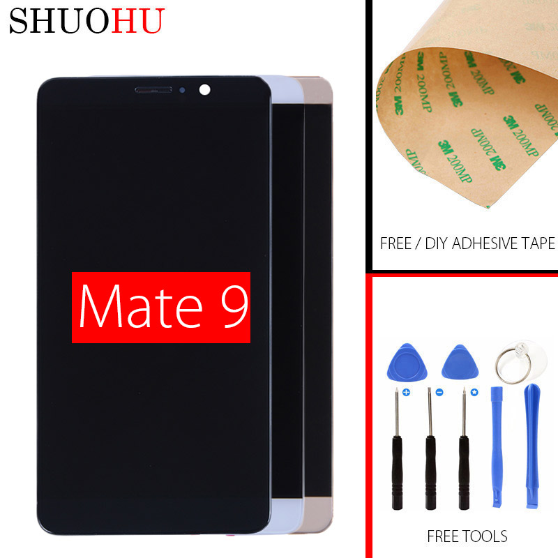 100% Tested LCD Screen 5.9 inch For Huawei Mate 9 MHA-L09 MHA-L29 LCD Display Touch Digitizer Screen black White Gold Mocha Gold<br>