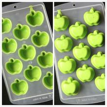 Ice Mold DIY Creative Big Ice Cube Mold Apple Shape Silicone Ice Tray Fruit Ice Cube Maker Bar Kitchen Accessories D39Jl11