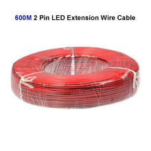 3roll 600M 22AWG 2 Pin LED Extension Wire Connector Cable Cord For SMD 3528 5050 5730 5630 Single Color LED Strip(China)