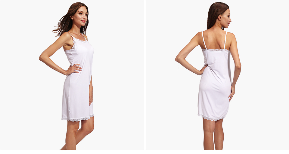 3786ccb041 Vislivin Lady Cotton Nightgown Women Nightwear Night Dress Female ...