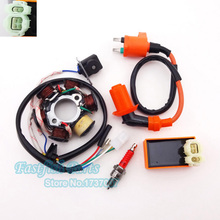 Magneto Stator Racing Ignition Coil AC CDI A7TC Spark Plug For GY6 49cc 50cc Moped Scooter Pit Dirt Bike Motorcycle Motocross(China)