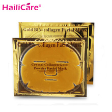 20 pcs Gold Bio-Collagen Facial Mask Face Mask Crystal Gold Powder Collagen Anti-aging Facial Mask Moisturizing(China)