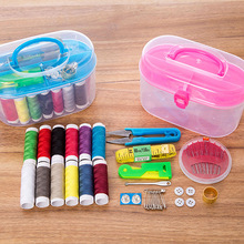 QUABABOBO Multifunction Storage Box Costurero Home Workbox Sewing Boxes Hussif Housewife Sewing Organizer Kit 14.5*7.5*9.5cm(China)