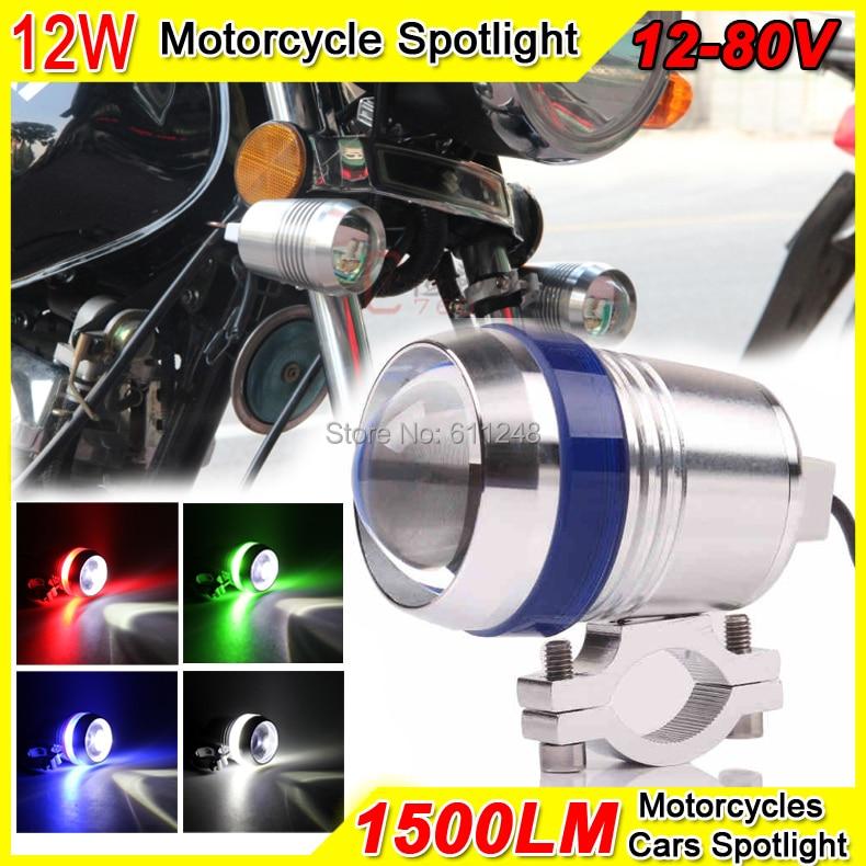 12W Super Bright Projector Fog light Motorcycle Angel Eyes Strobe DRL Led Light 12V-80V Spotlight Trucks Boat Offroad Roof Light<br><br>Aliexpress