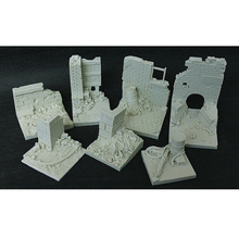 1/35 Resin Models Soldiers City Ruins Field Base Slabs Base War Sand Table Special Platform Model Scenarios(China)