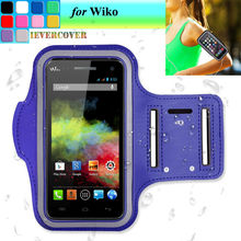 Sports Running Riding Arm Band Case for Wiko U Feel Fab Leather Case Wiko Fever / Slide 2 /Ridge Fab 4G /Pulp Fab 4G Pouch Cover