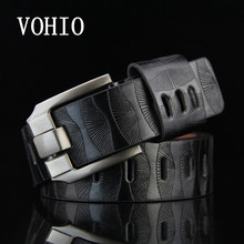 VOHIO 2017 Belt Man's imitation leather harnesses men wide belt Ladies casual hot style pants brown yellow g 110cm free shipping(China)