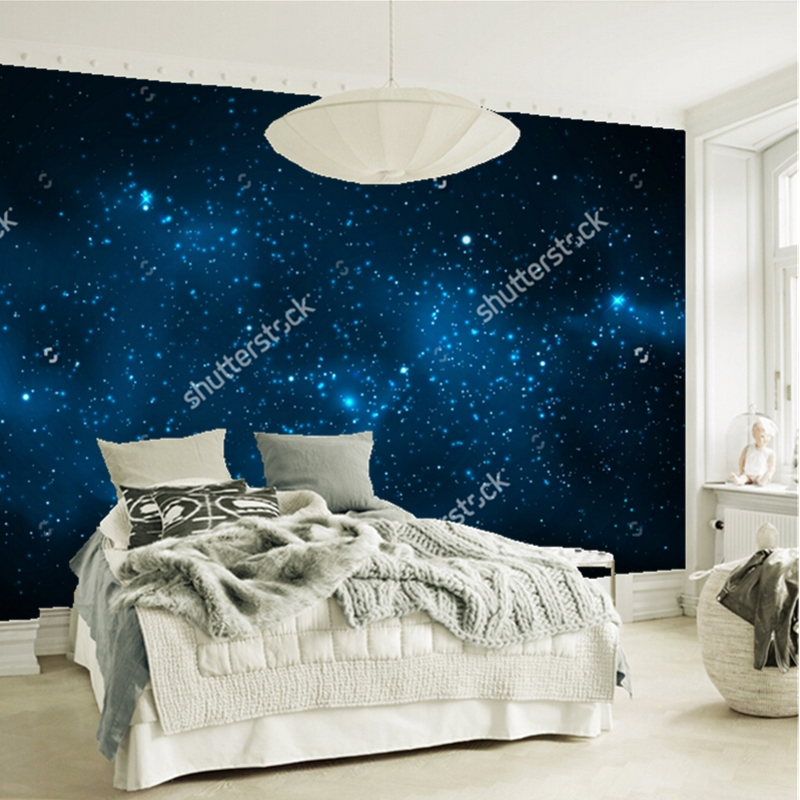 Cosmic star Nebula wallpaper,Milky Way,3D natural landscape for the living room ceiling background wall waterproof wallpaper<br>