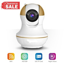 WiFi Wireless 720P IP Camera WiFi IP Camera Two Way Audio Baby Monitor Pan Tilt Security Camera  Night Vision 5 Color