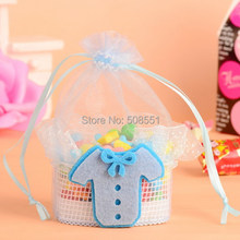 baby dress stick on the basket wedding candy gift packaging bags chocolate bag 12pcs(China)