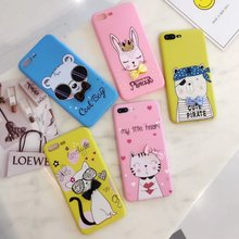 Buy iPhone 8 / 8 plus case cloth bow soft tpu back cover Cases iphone 8 /7 /7plus / 6/ 6splus cute cartoon shell cat bear for $2.84 in AliExpress store