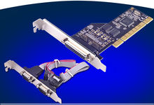 2 Port RS-232 Serial COM & 1 Port Printer Parallel LPT Port to PCI Adapter Converter