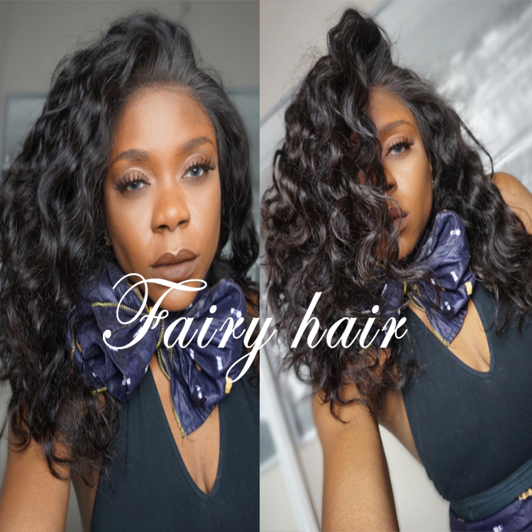 Top Quality Short Lace Front Synthetic Hair Wigs For Black Women Glueless Heat Resistant Bob Wavy Lace Front Wig With Baby Hair<br><br>Aliexpress