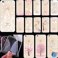 6/6S Painting Snow Christmas Tree Silicon Phone Cover Cases For Apple iPhone 6 iPhone 6S iPhone6 iPhone6S Case Shell Best Choose