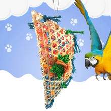 Misterolina Grass Pet Bird Parrot Swing Cage Toy Foraging Toys Chew Bites for Parakeet Cockatiel swing Cages Playing Toy ZYW4190(China)