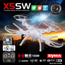 Syma X5SW Quadrocopter Drone With Camera HD FPV Dron Skimmer Rc Helicopter WIFI Quadcopter Remote Control Helicoptero(China)