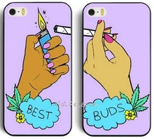 Best Buds Set of Friends smoking cell Phone Case Cover for iphone 4 5 5S 5C SE 6 6S 7 Plus Samsung galaxy S4 S5 S6 S7 edge shell