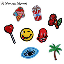 5PCs Polyester Appliques DIY Scrapbooking Craft Embroidered Patch For Clothing Fabric Badges Iron-On Sewing Patches