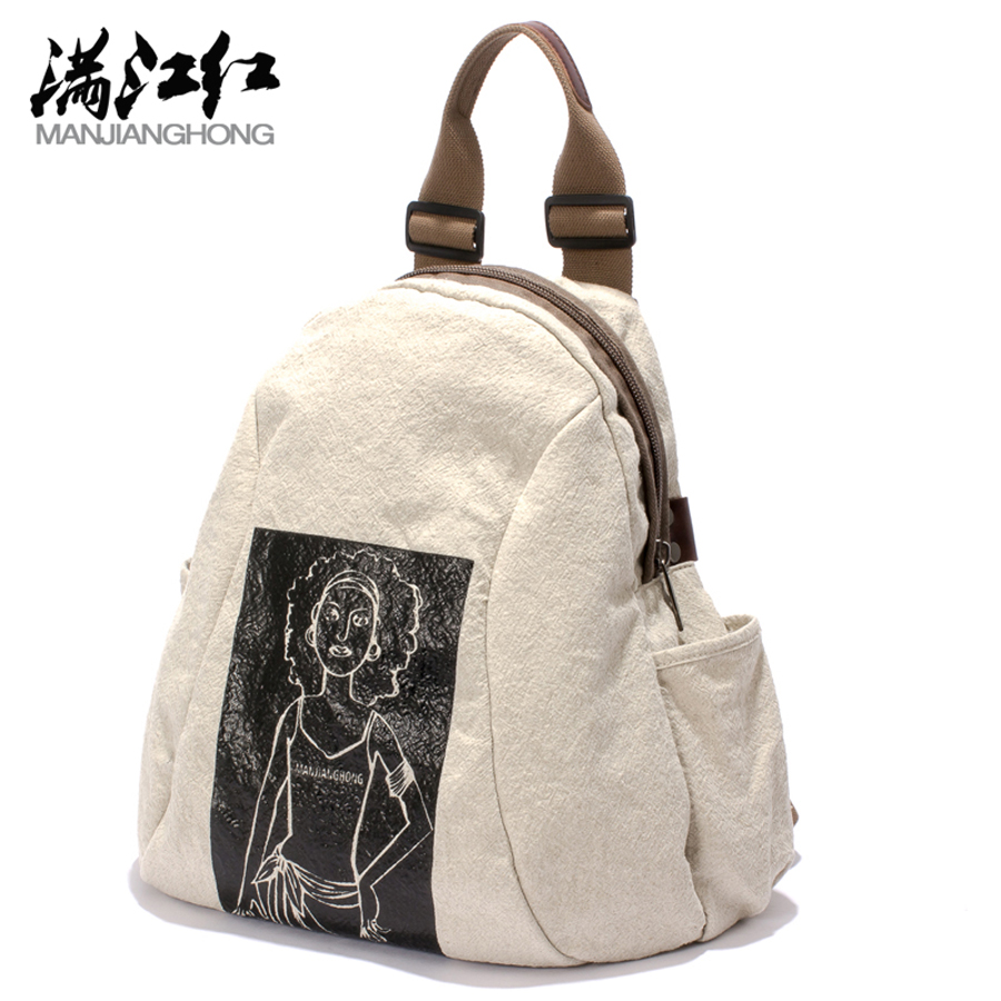 Fresh Style Travel Bag HOT New Designed Brand Cool Fashion Girls Backpack Men Women Cotton With Leather Women Backpack <br>