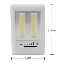 Sanyi Magnetic LED Night Light Ultra Bright Mini COB Wireless Wall Light with Switch Magic Tape for Camp Lamp Indoor Lighting