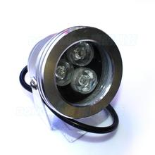 waterproof IP68 flat lens 3w DC12v led fountain swimming pool light warm/cold white spotlight underwater for pond lamp(China)