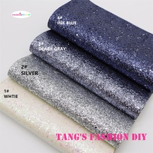 4pcs-High Quality big small mix chunky glitter leather/Synthetic leather/DIY fabric 20x22cm per pcs CAN CHOOSE COLOR(China)