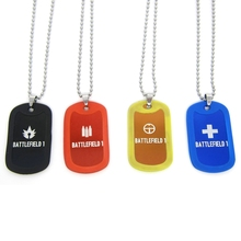 New Game Battlefield 1 Necklaces BF1 Classes Support Assault Medic Scout Class Dog Tag Red Black Blue Pendant Jewelry for Fans