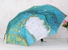 world map umbrella individuality creative thirty percent outdoor folding men and women