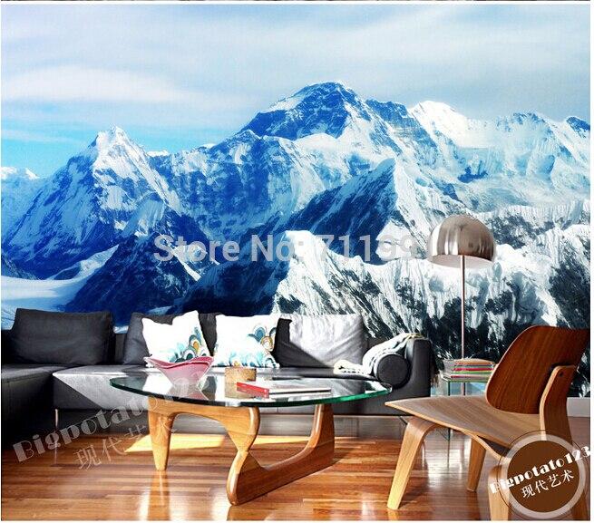 Custom photo wallpaper, wall Mount Qomolangma ice landscape for living room TV backdrop of vinyl wallpaper Papel de parede<br>