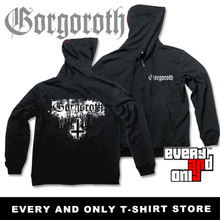 Gorgoroth Band Cross Logo  fleece Hoodies Black Metal