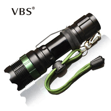 CREE Q5 / XM-L T6 1000lm / 2000Lumens LED Torch Zoomable Cree LED Flashlight Torch light For 3xAAA or 1x18650 Free shipping