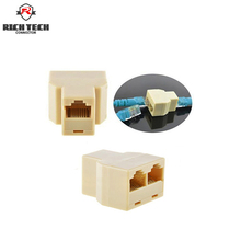 8pcs RICH TECH High quality Cable network RJ45 connector (8-core) 1-2 internet adapter network splitter converter