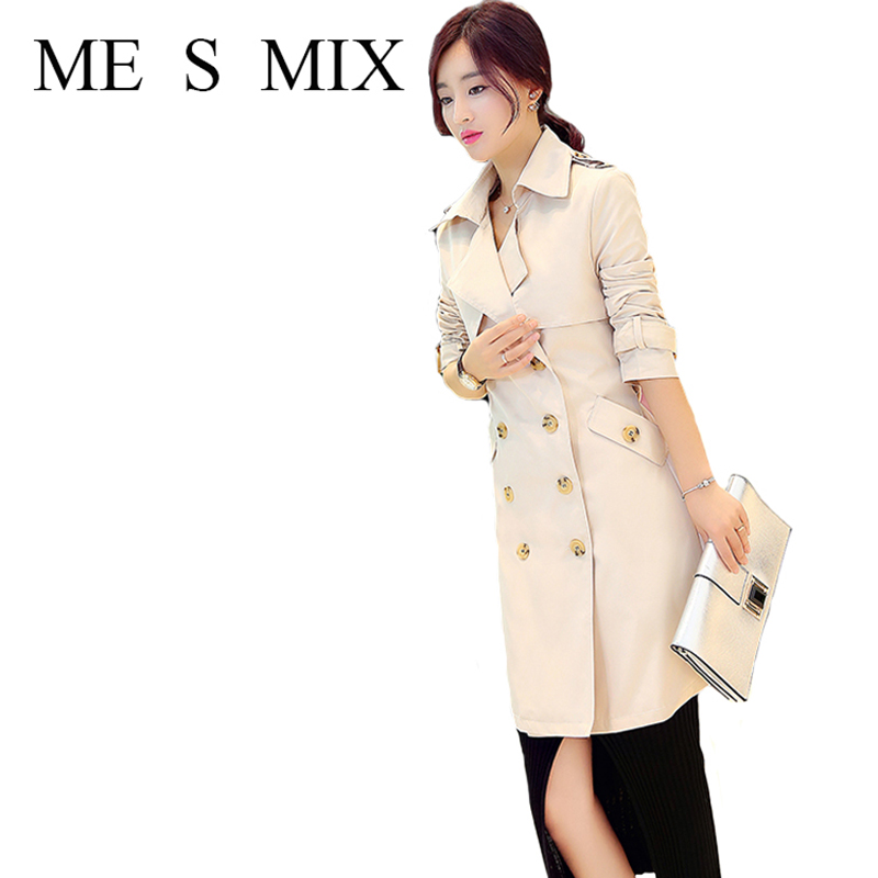 freeshipping 2017 spring new fashion casual Women Windbreaker 2 colors student office lady jacket Double-breasted belt pocketОдежда и ак�е��уары<br><br><br>Aliexpress