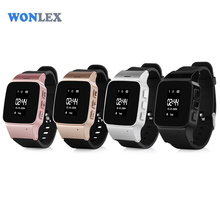 Wonlex 2017 GPS/LBS Tracker Watch for Elderly People Children Wristwatch with SOS Safe Anti Lost Remote Monitoring Watch(China)