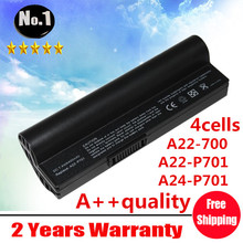 wholesale New 4 cells laptop battery For ASUS Eee PC 701  8G  4G  700  900  A22-P701 A22-700 A24-P701A22-700 free shipping