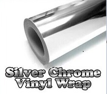 300mmX1520mm Chrome Silver Vinyl Car Sticker Electroplated silver film DIY Wrap Sheet Film Decal Car Styling(China)