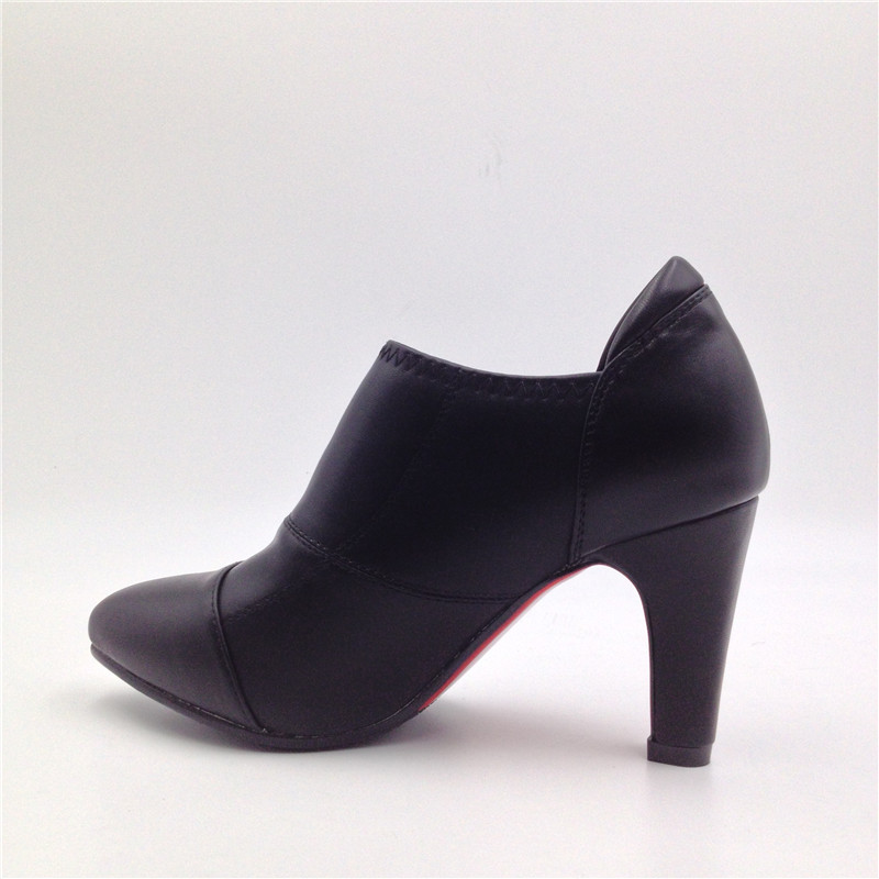 Woman Low Heel Pumps Female Sweet Casual Pump Shoes Chunky Heels Black Ladies Soft Spring Summer OL Office Work Shoes D30<br>