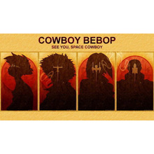 J1978- Cowboy Bebop - Spike Jet Fight Japan Anime Pop 14x21 24x36 Inches Silk Art Poster Top Fabric Print Home Wall Decor(China)