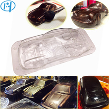 3D Porscha Car Chocolate mold DIY Handmade Cake Candy Plastic Vehicle Chocolate Making Tool Cake Decorating molds(China)