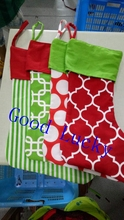 40pcs/lot Christmas gift canvas stocking wholesale mixed colors stockings monogram personalized Christmas stocking