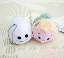 3.5'' Tsum Tsum Elsa Plush toy Elsa Anna doll Olaf Sven toys Cute doll Screen Cleaner for iPhone tsum Plush doll