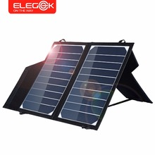 ELEGEEK 5V 10W Portable Solar Panel Charger Foldable Solar Phone/Tablet Charger 2A Solar Charging for iPhone Sumsung Huawei