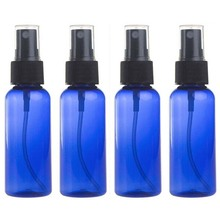 50ml Blue Empty Glass Sprayer Bottle Refillable Essential Oil Perfume Container Travel Cosmetic Atomizer(China)