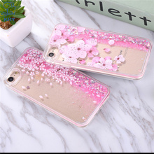 KRY Fashion Liquid Glitter Sand Mobile Phone Cases For iphone 8 Case Flamingo Sequins Plastic Soft Edge for iphone 7 Case(China)