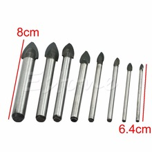 OOTDTY F85  3/4/5/6/8/10/12/14mm Porcelain Spear Head Tile Glass Ceramic Marble Drill Bits